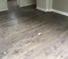 Installing birch wood flooring