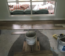 Installing hickory wood look floor tile