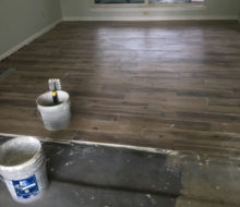 Installing hickory wood look floor tile