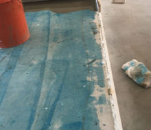 Leveling first elevated floor/step