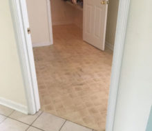 Old tile floors - prior to removal