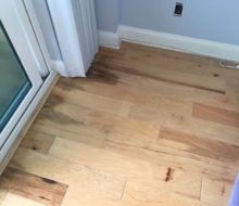 Repaired hickory wood flooring