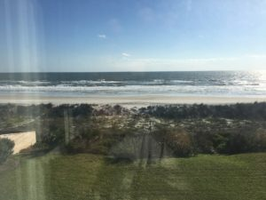 Atlantic Beach and ocean - view out the window of project home.