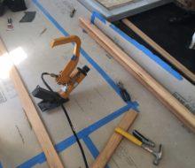 Installing heart pine plank flooring