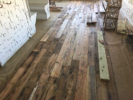 Reclaimed heart pine flooring repair refinishing st for Flooring st augustine