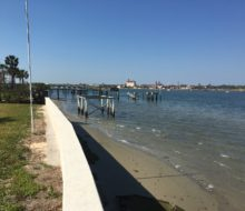 Looking south over Matanzas Bay, behind the project home.
