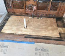 New plywood subfloor installed
