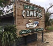 Saltwater Cowboys restaurant - Seafood and BBQ - St. Augustine, Florida.