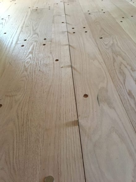 Red Oak Plank Flooring With Walnut Pegs St Augustine