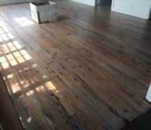 Whitewashed, varied length and width, reclaimed heart pine flooring
