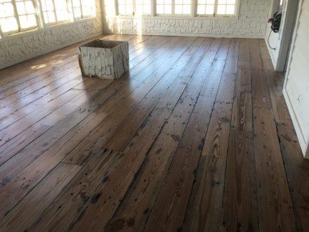 Reclaimed Heart Pine Plank Flooring Sealing Amp Finishing