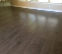 Maple flooring installed