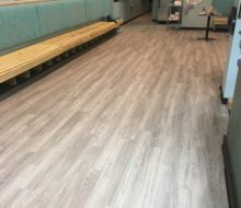New vinyl plank flooring installed in Manatee Cafe