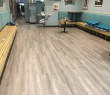 New vinyl plank flooring installed in Manatee Cafe