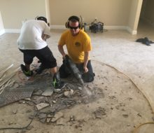 Removing original floor tiles