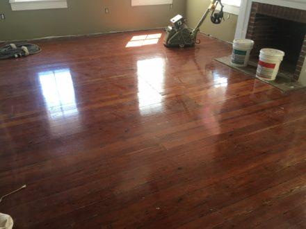 Refinishing restoring old heart pine plank flooring st for Flooring st augustine