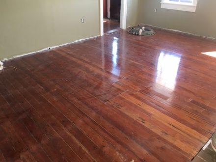 Refinishing Restoring Old Heart Pine Plank Flooring St