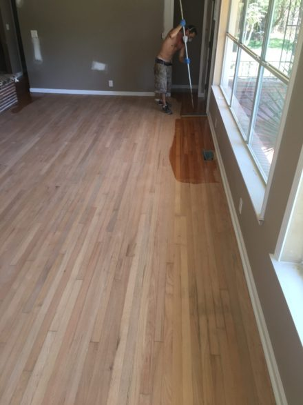 Red oak clear grade flooring sand and finish st for Flooring st augustine