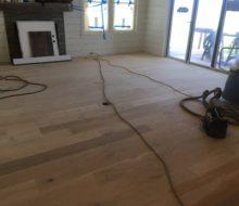 Installed character grade White Oak flooring