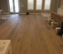Installing wire brushed oak hardwood flooring