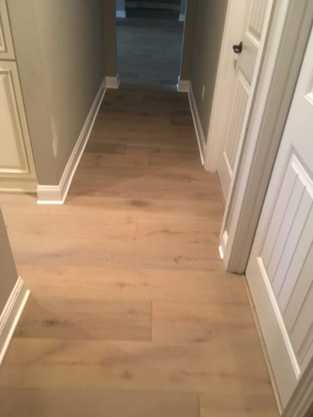 Wire brushed oak hardwood flooring install st augustine fl for Hardwood flooring inc