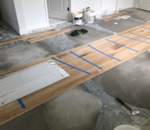 installing wire brushed white oak flooring