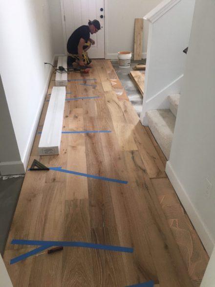 Wire Brushed Oak Flooring Installation Nocatee Florida