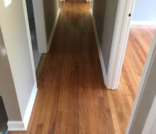 Refinished solid red oak clear grade flooring