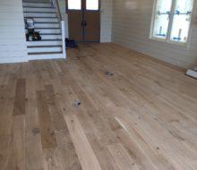 Sanded character grade White Oak flooring