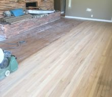 Sanding water damaged solid red oak clear grade flooring