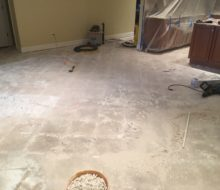 Slab after floor tile removal