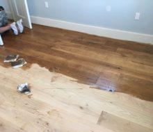 Staining character grade White Oak flooring