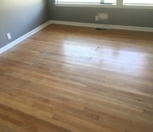 Water damaged solid red oak clear grade flooring