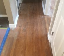 Water damaged solid red oak clear grade flooring.
