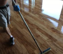 Refinishing hickory flooring