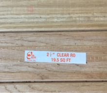 Package of Red Oak clear grade flooring.