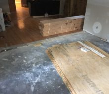 plywood for wood flooring prep in addition