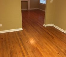 Red Oak clear grade flooring - pre-refinishing.