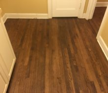 Red Oak clear grade flooring - stained & refinished