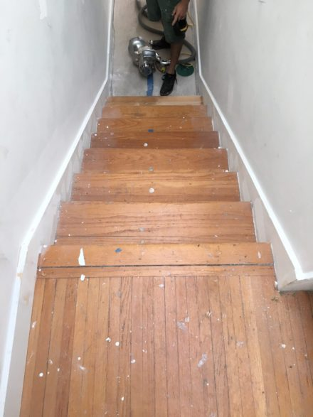 Red Oak Stair Treads Prior To Refinishing