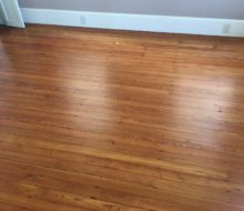 Refinished water damaged old heart pine flooring