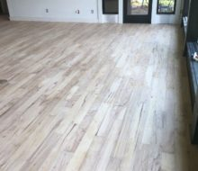 Sanded hickory flooring