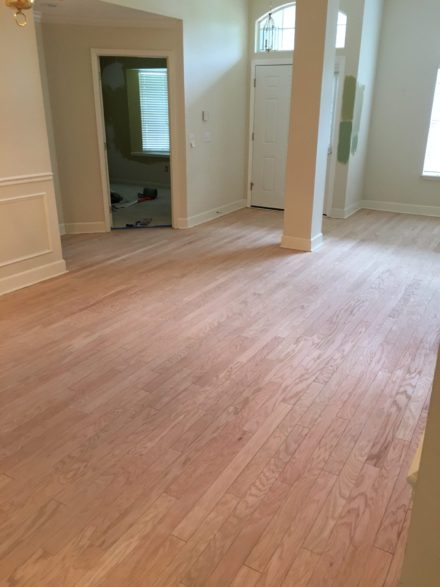 Red Oak Flooring Refinishing Cimarrone Country Club