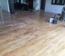 Sanding hickory flooring