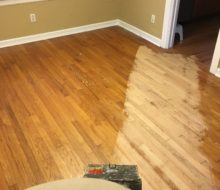Sanding old Red Oak clear grade flooring at 45 degrees