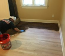 Staining Red Oak clear grade flooring