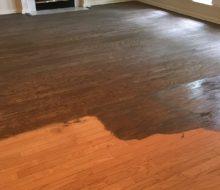 Staining sanded Red Oak flooring