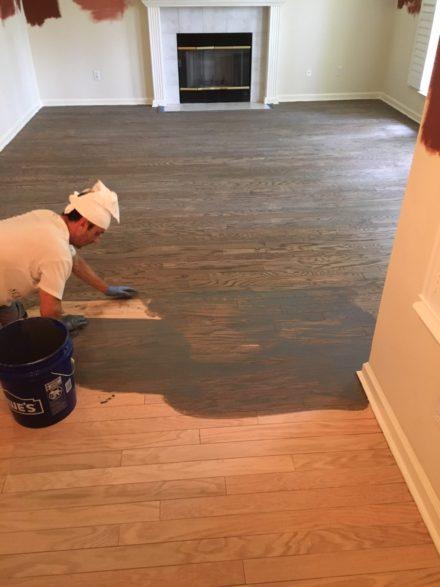 Red Oak Flooring Refinishing Cimarrone Country Club