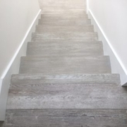 White grain refinished stair treads