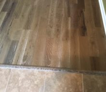 Wire brushed European White Oak flooring installed